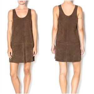 BB Dakota Katniss Suede Shift Dress Size M NWT